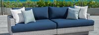 Portofino® Comfort 96in Sofa Right Base Cushion - Laguna Blue