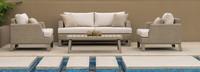 Portofino® Sling 71in Loveseat Left Base Cushion - Beige Fennel