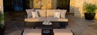 Portofino® Comfort 88in Sofa Back Cushion - Heather Beige