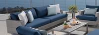 Portofino® Comfort 88in Sofa Back Cushion - Laguna Blue