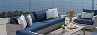 Portofino® Comfort 88in Sofa Left Base Cushion - Laguna Blue