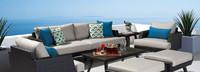Portofino® Casual 88in Sofa Left Base Cushion - Dove Gray