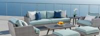 Portofino® Casual 88in Sofa Left Base Cushion - Spa Blue