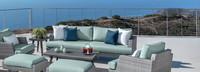 Portofino® Casual 88in Sofa Right Base Cushion - Spa Blue