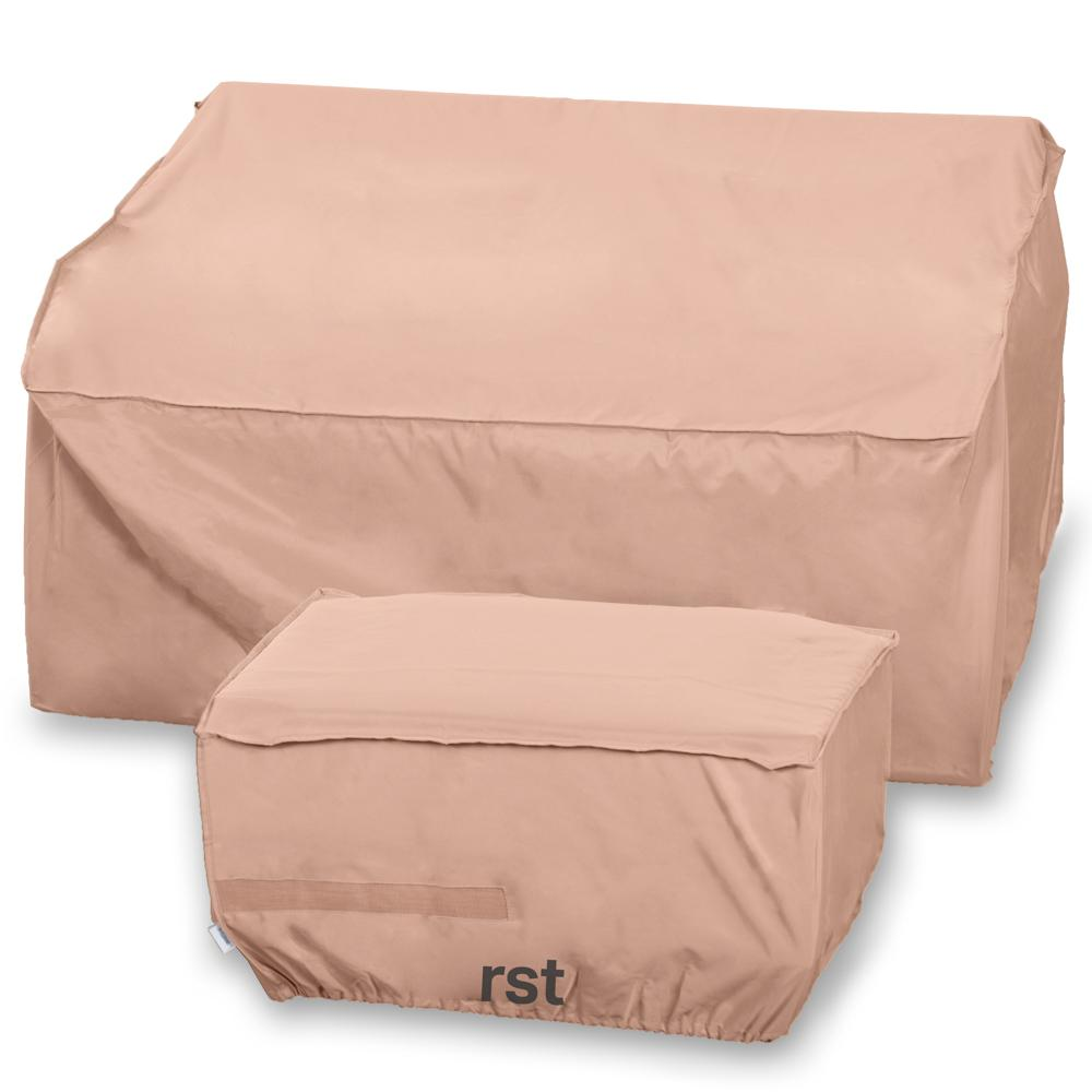 Modular Loveseat and Ottoman Furniture Covers - Outdoor Furniture by RST Brands