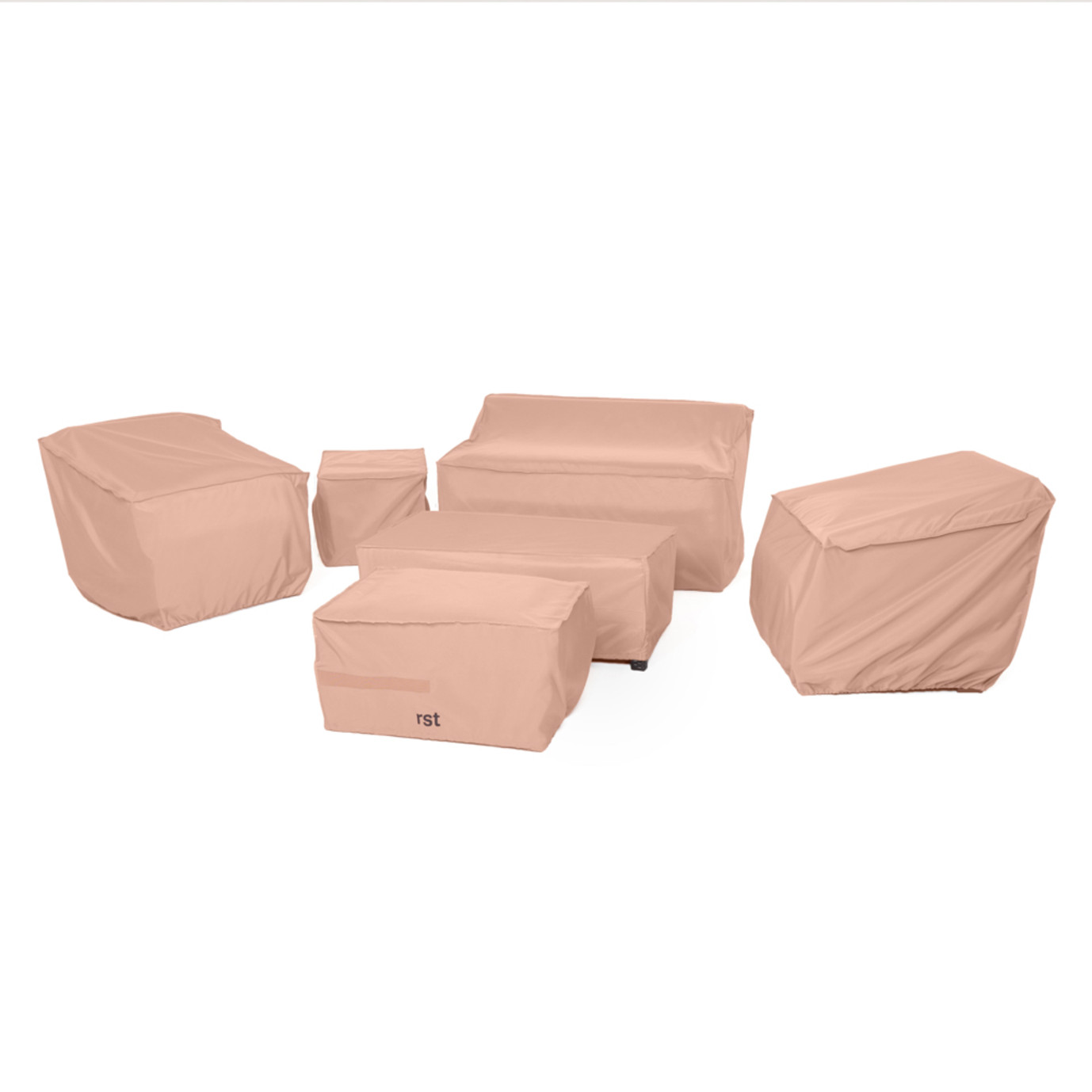 Modular Outdoor 6pc Love and Club Furniture Cover Set