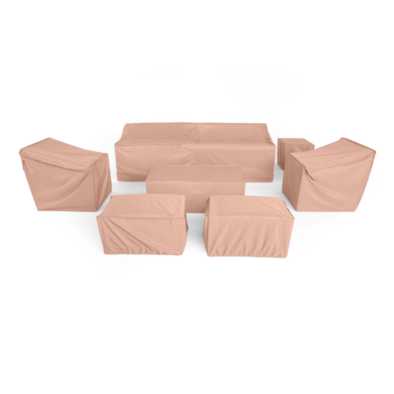 Modular 8pc Sofa And Club Chair Outdoor Furniture Cover Set