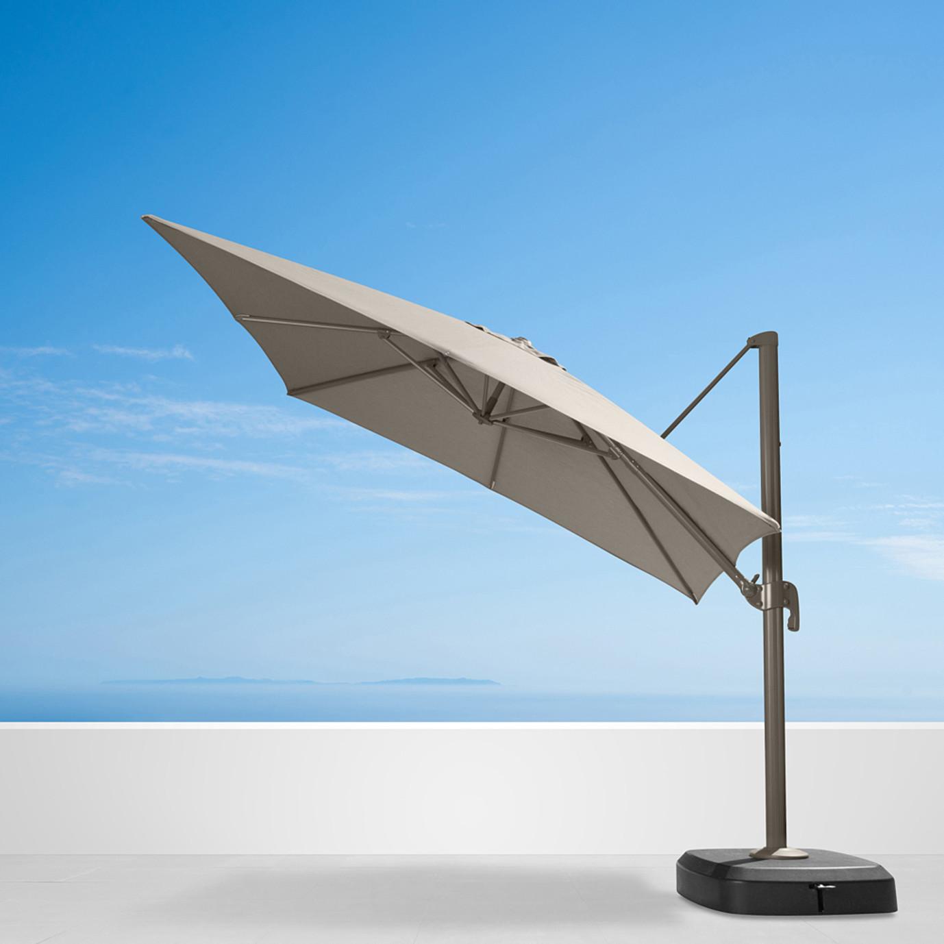 Portofino Comfort 10ft Resort Umbrella Espresso Taupe