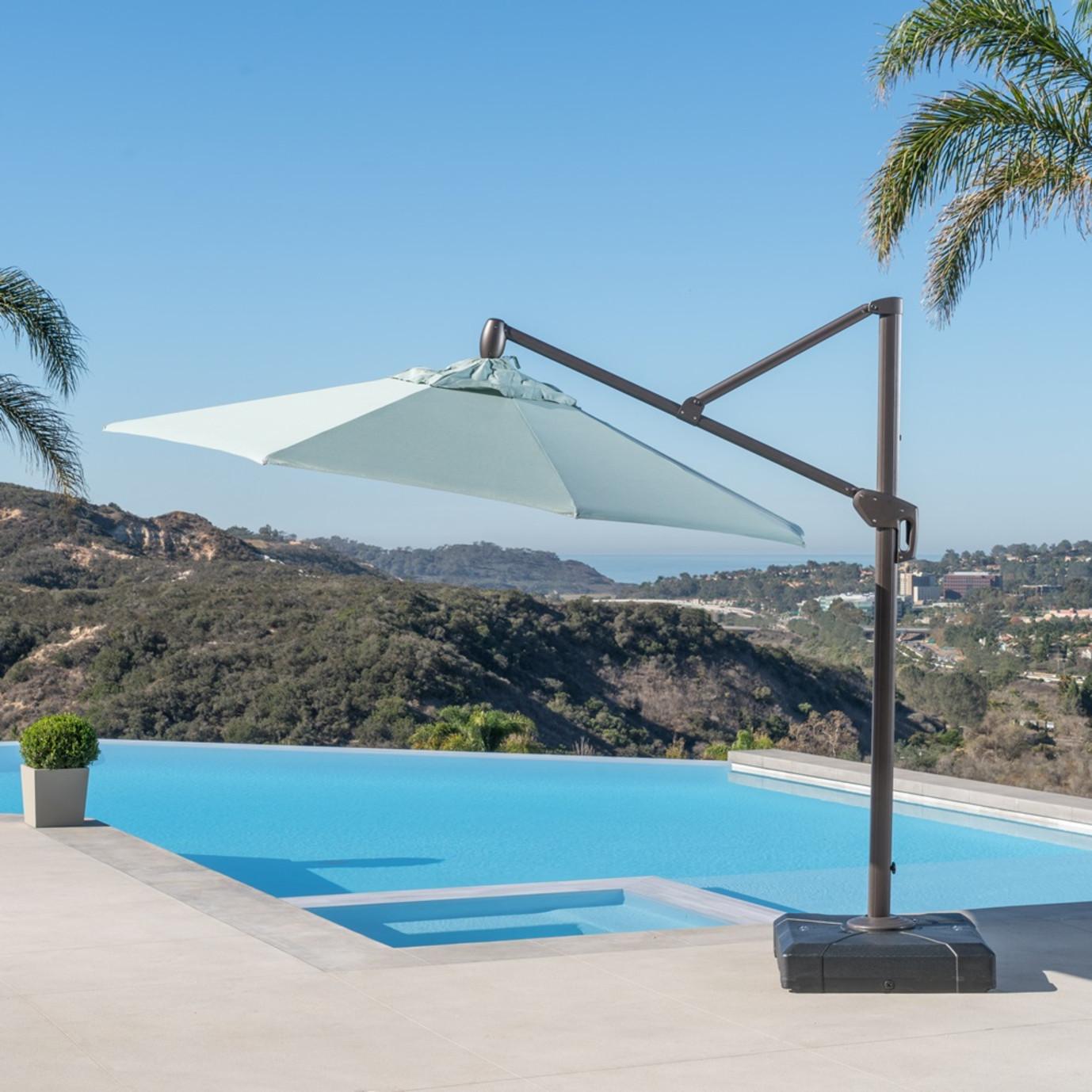 Modular Outdoor 10' Round Umbrella - Bliss Blue