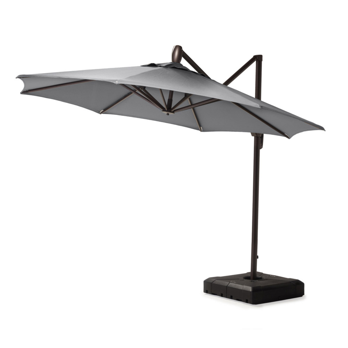 Modular Outdoor 10' Round Umbrella - Charcoal Gray