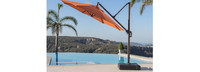 Modular Outdoor 10' Round Umbrella - Chestnut Brown