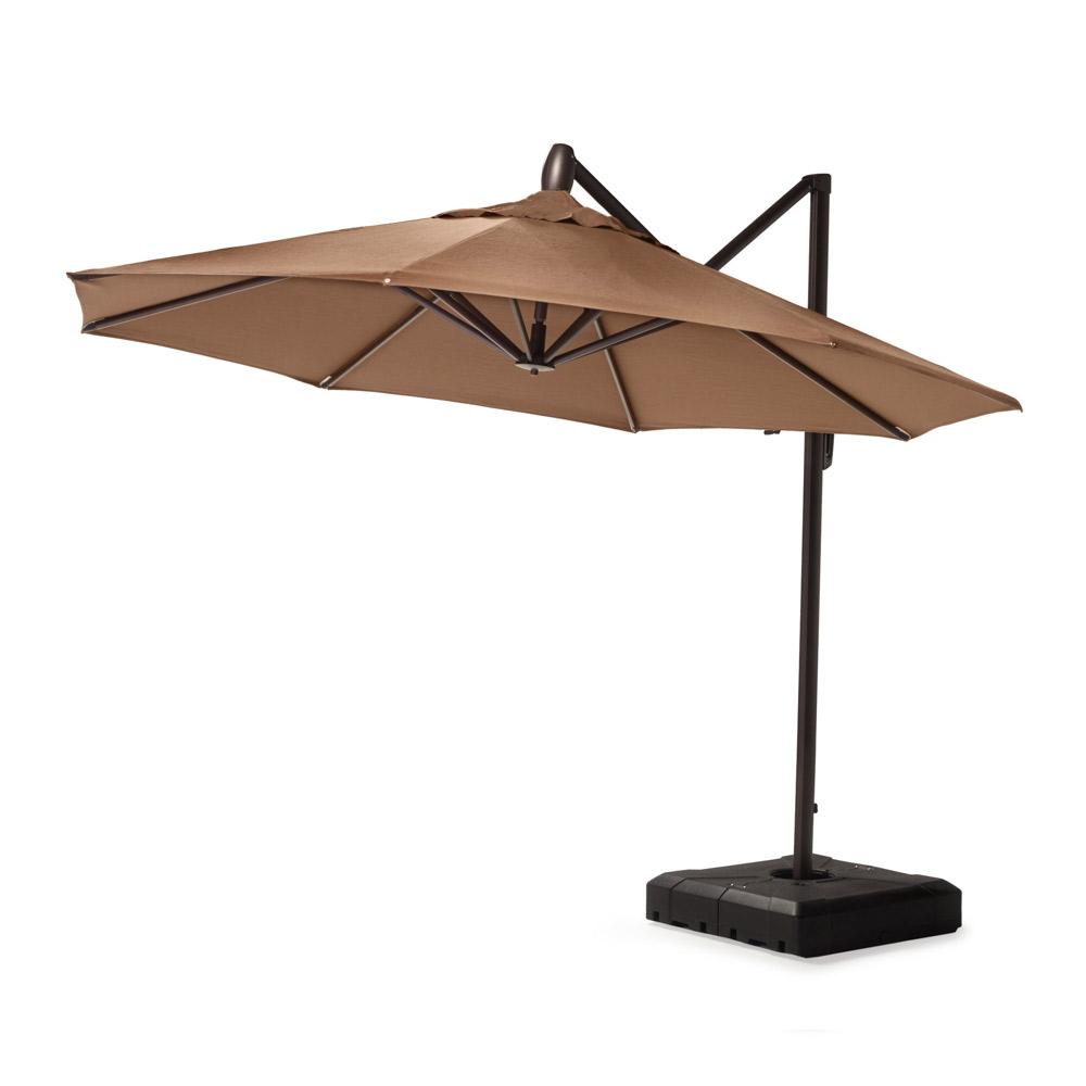 Modular Outdoor 10 Round Umbrella - Chestnut Brown