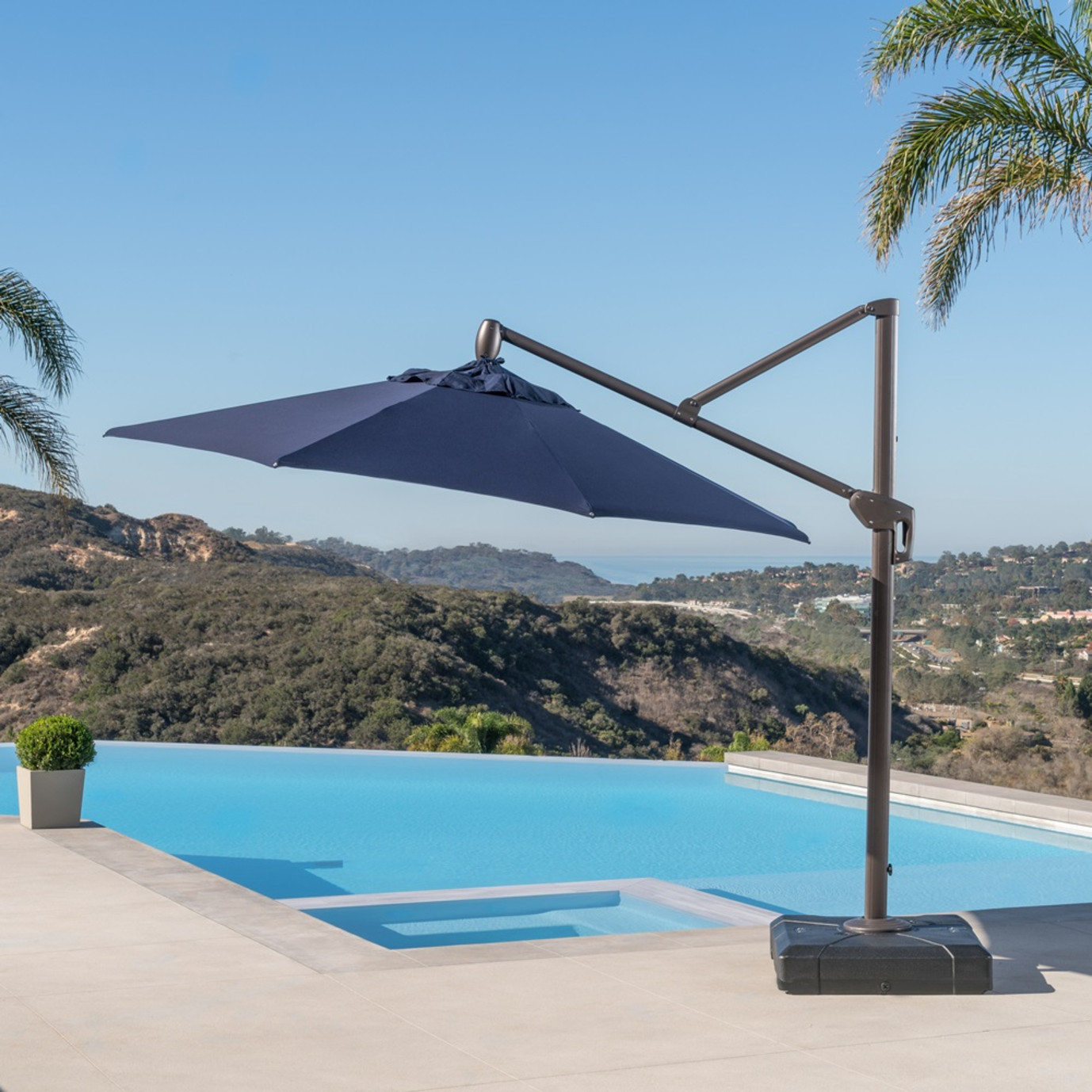 Modular Outdoor 10' Round Umbrella - Navy Blue