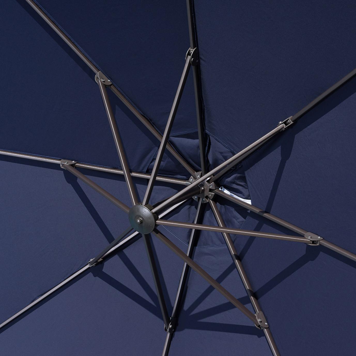 Modular Outdoor 10' Round Umbrella - Navy Blue