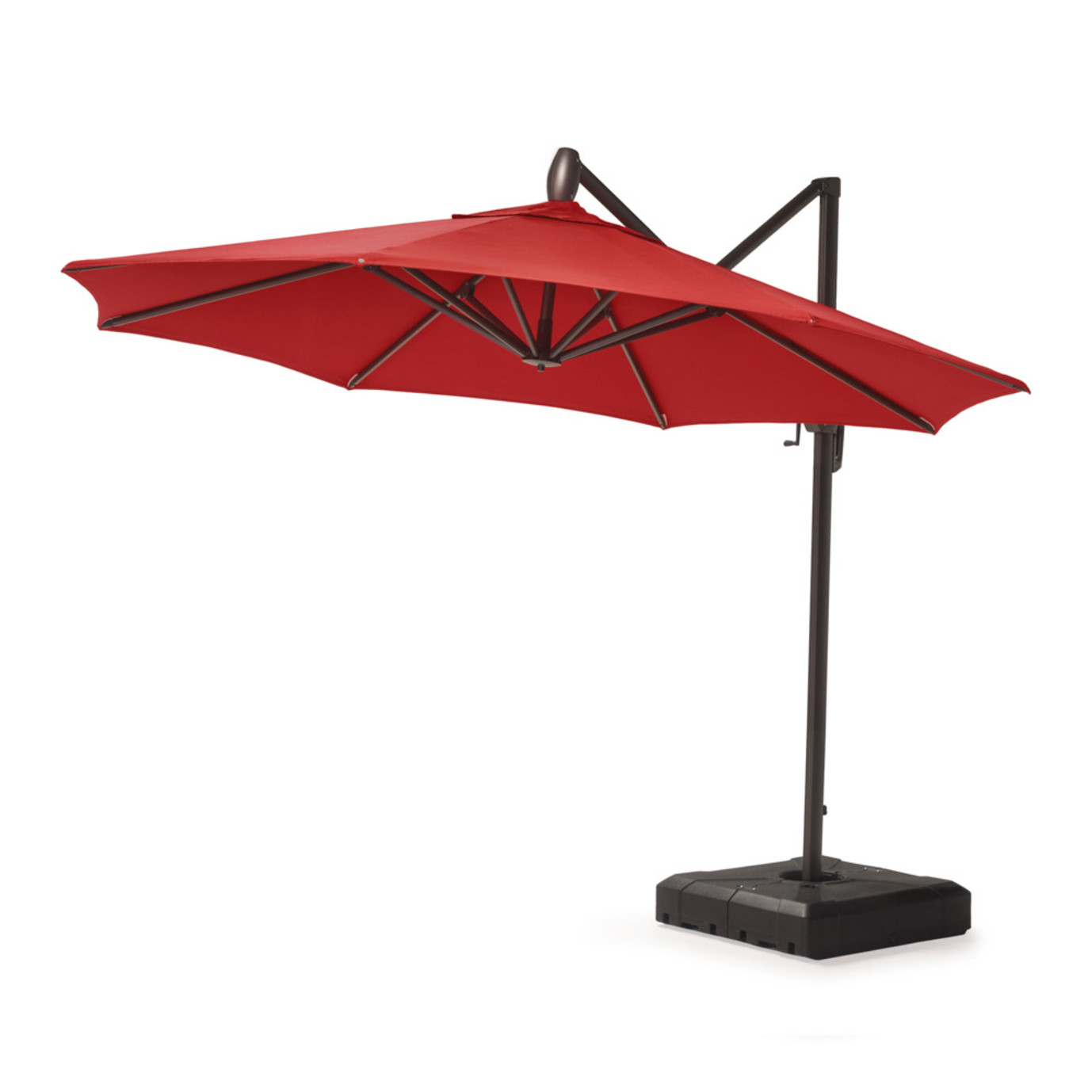 Modular Outdoor 10 Round Umbrella Sunset Red Rst Brands