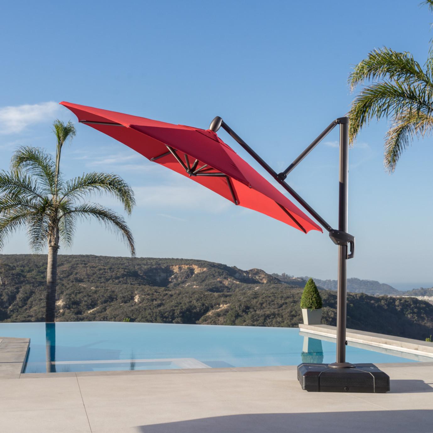 Modular Outdoor 10' Round Umbrella - Sunset Red