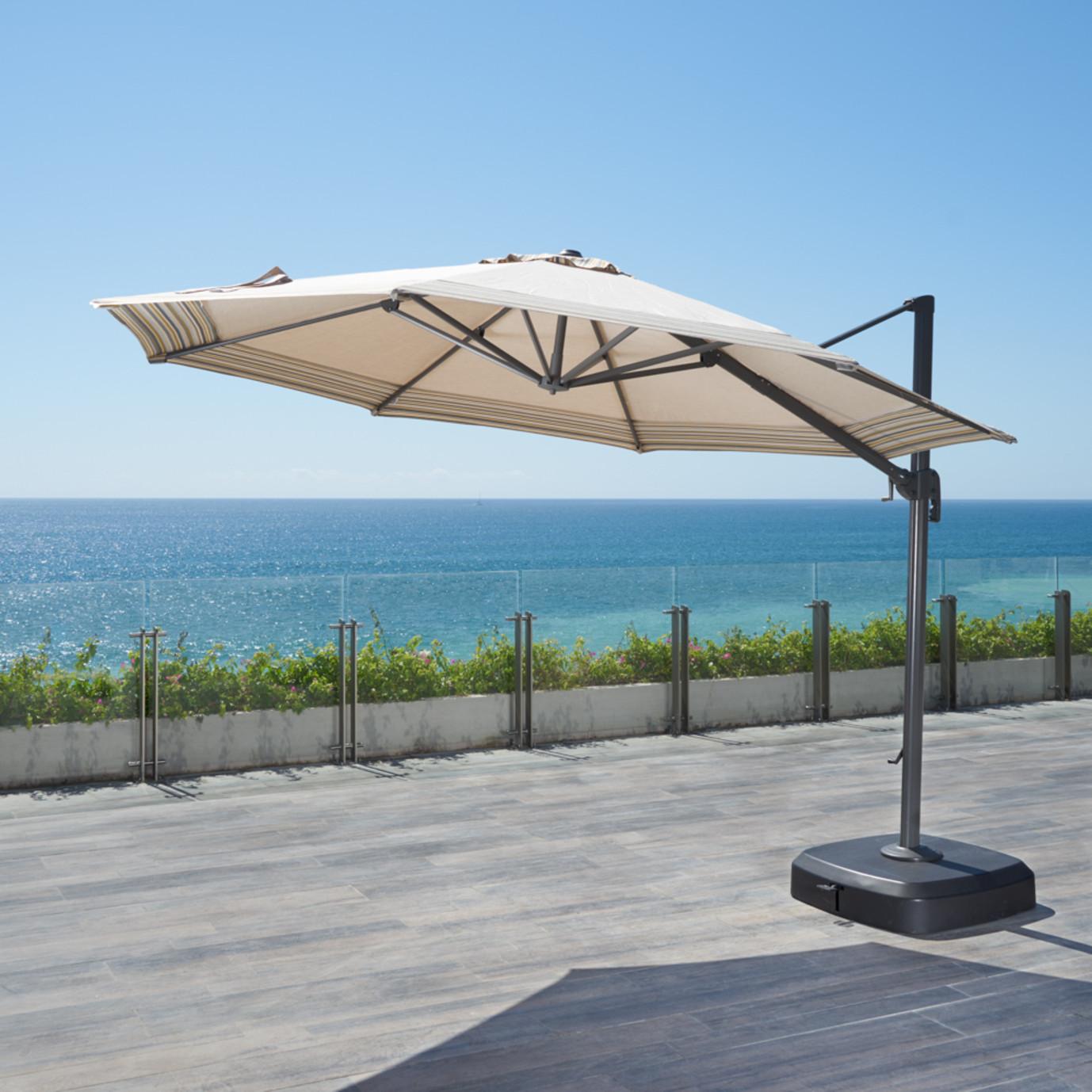Vistano™ 11ft Round Grand Umbrella - Canvas Flax