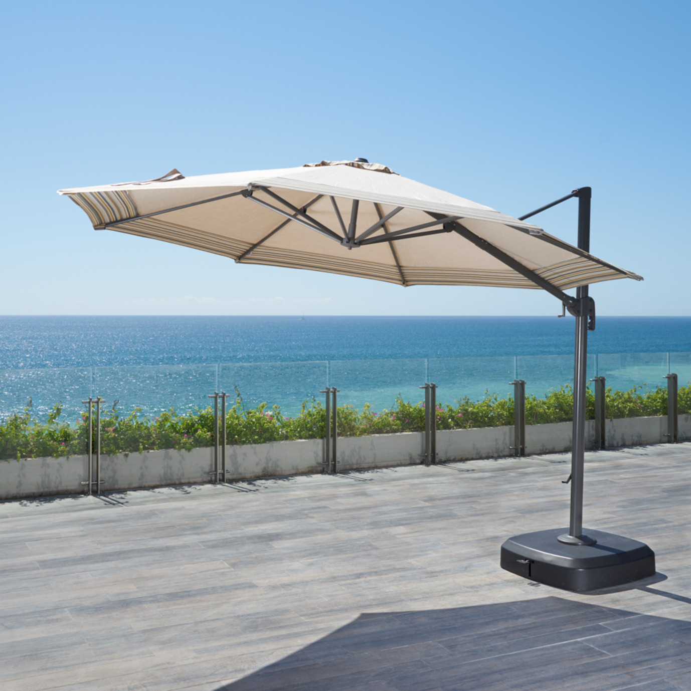 Vistano 11ft Grand Umbrella Canvas Flax Rst Brands