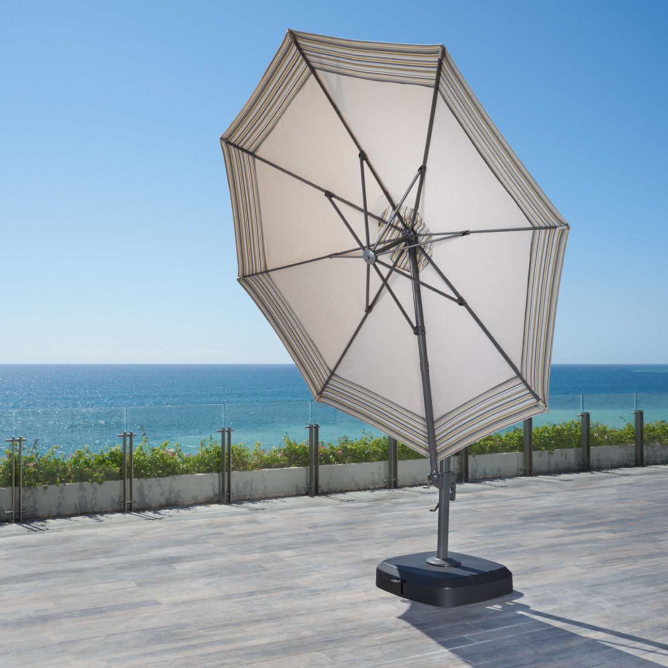 Vistano™ 11ft Round Grand Umbrella - Canvas Flax