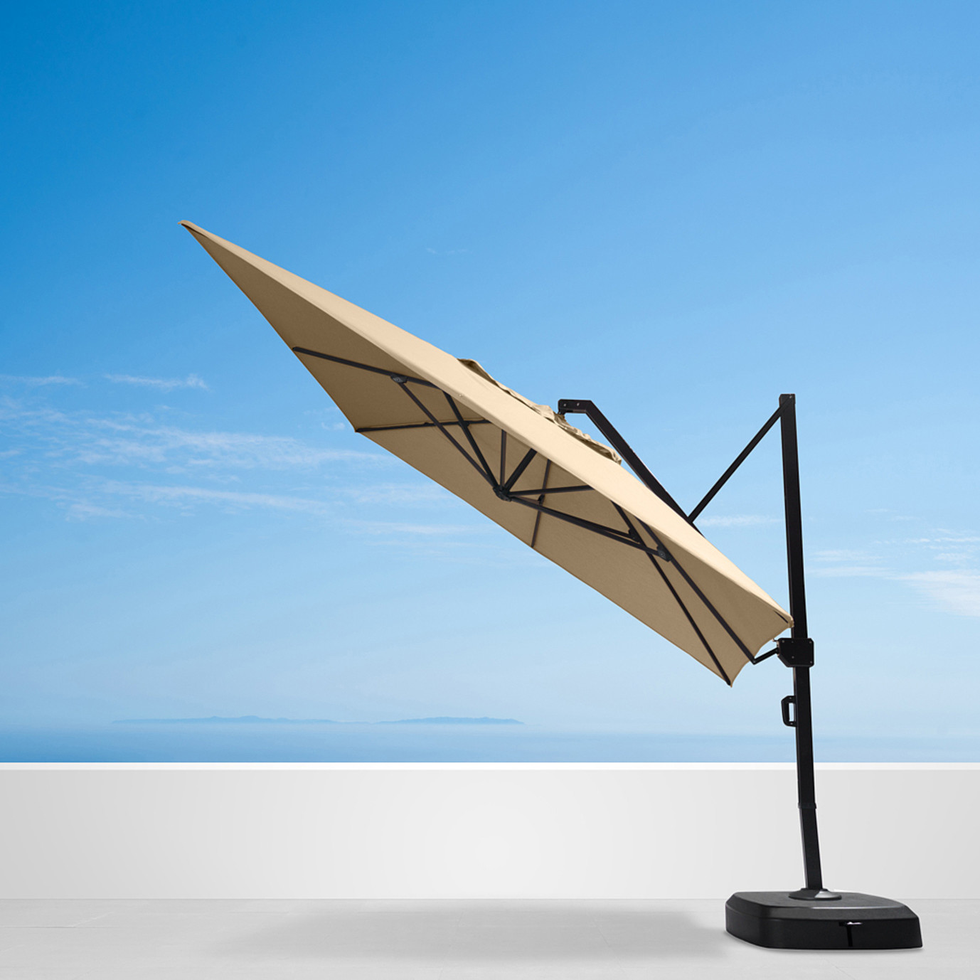 Portofino® Commercial 12ft Umbrella - Heather Beige