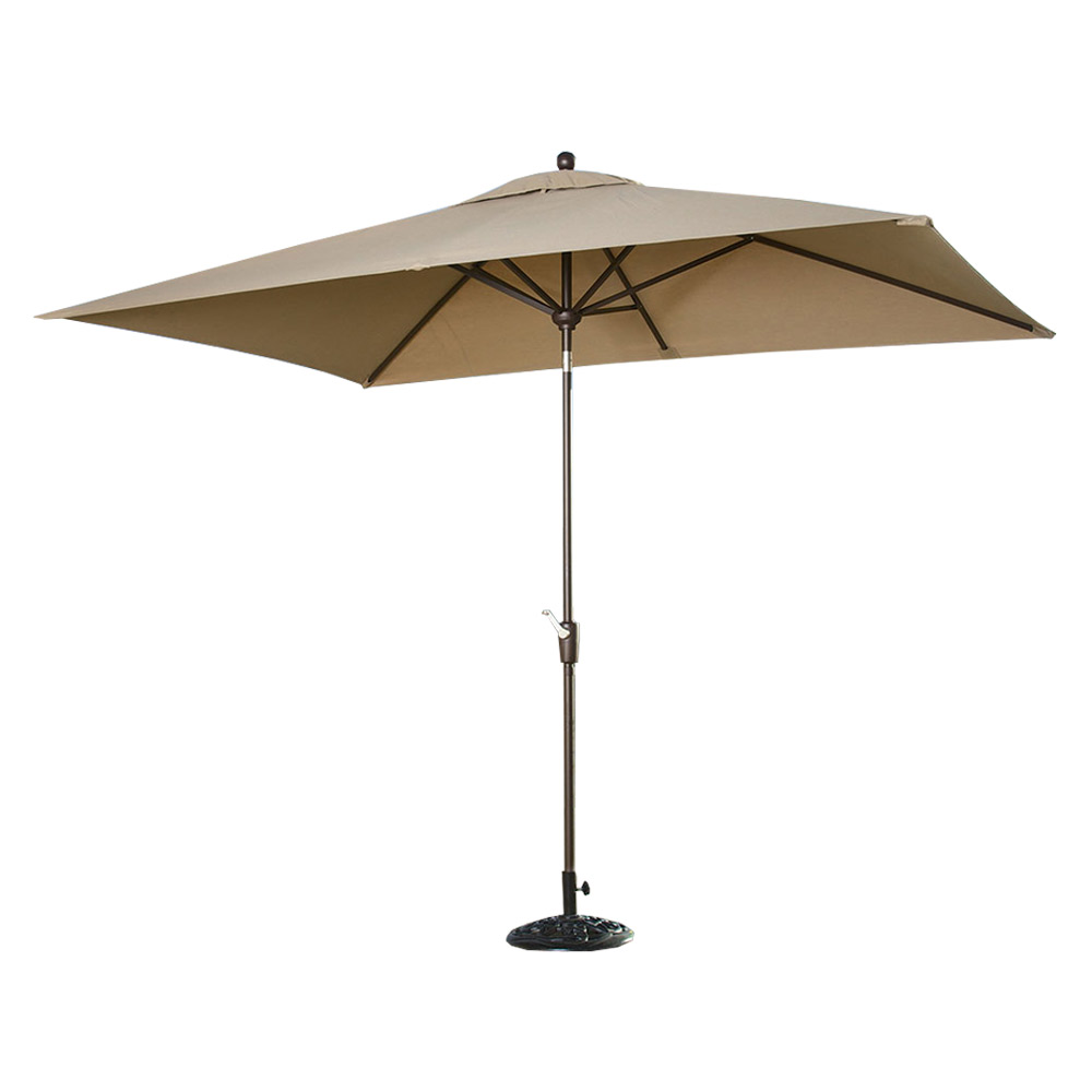 Portofino Comfort Auto-Tilt Dining Umbrella - Heather Beige