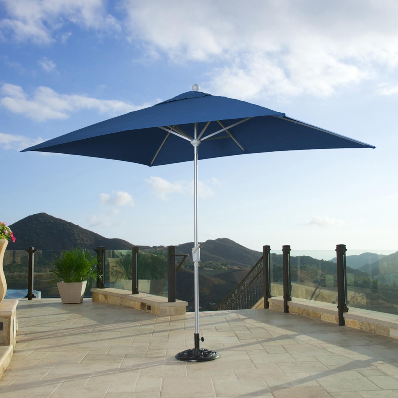 Portofino™ Comfort Auto-Tilt Dining Umbrella - Laguna Blue