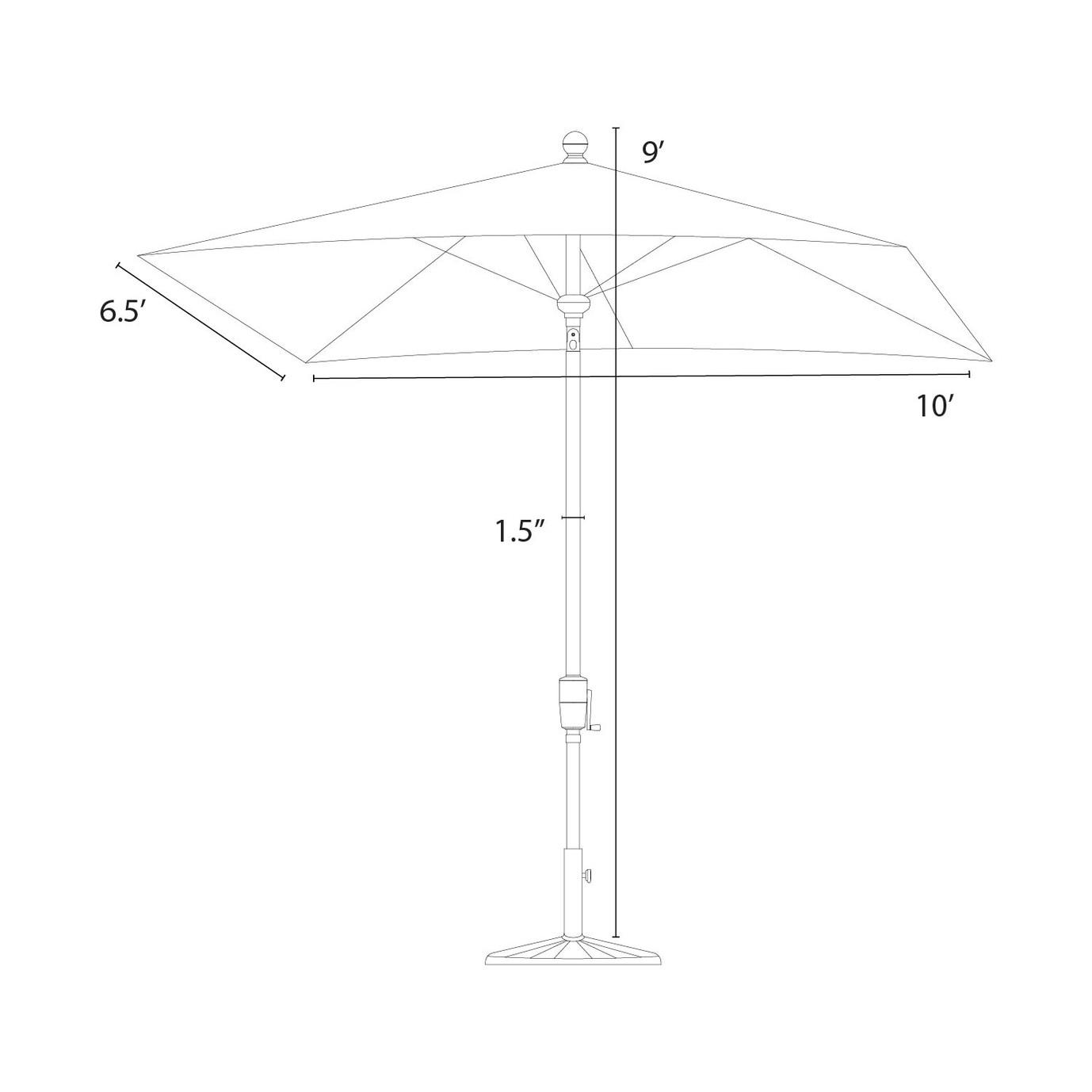 Portofino® Comfort Auto-Tilt Dining Umbrella - Laguna Blue