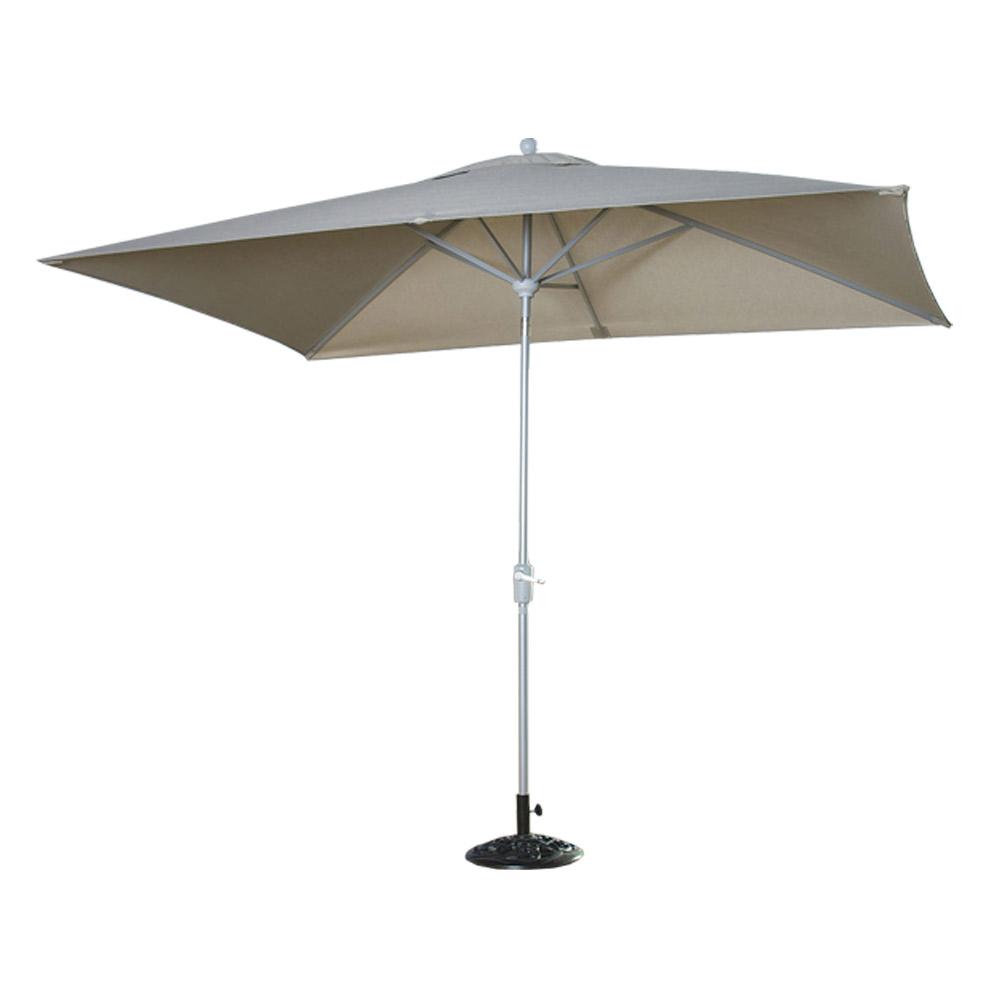 Portofino Comfort Auto-Tilt Dining Umbrella - Taupe Mist