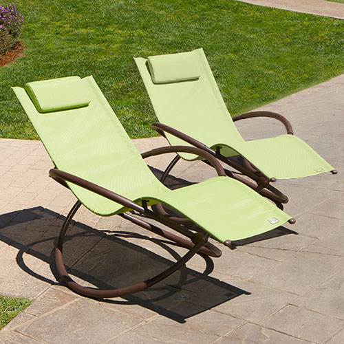 Original Orbital Outdoor Loungers 2pk - Green