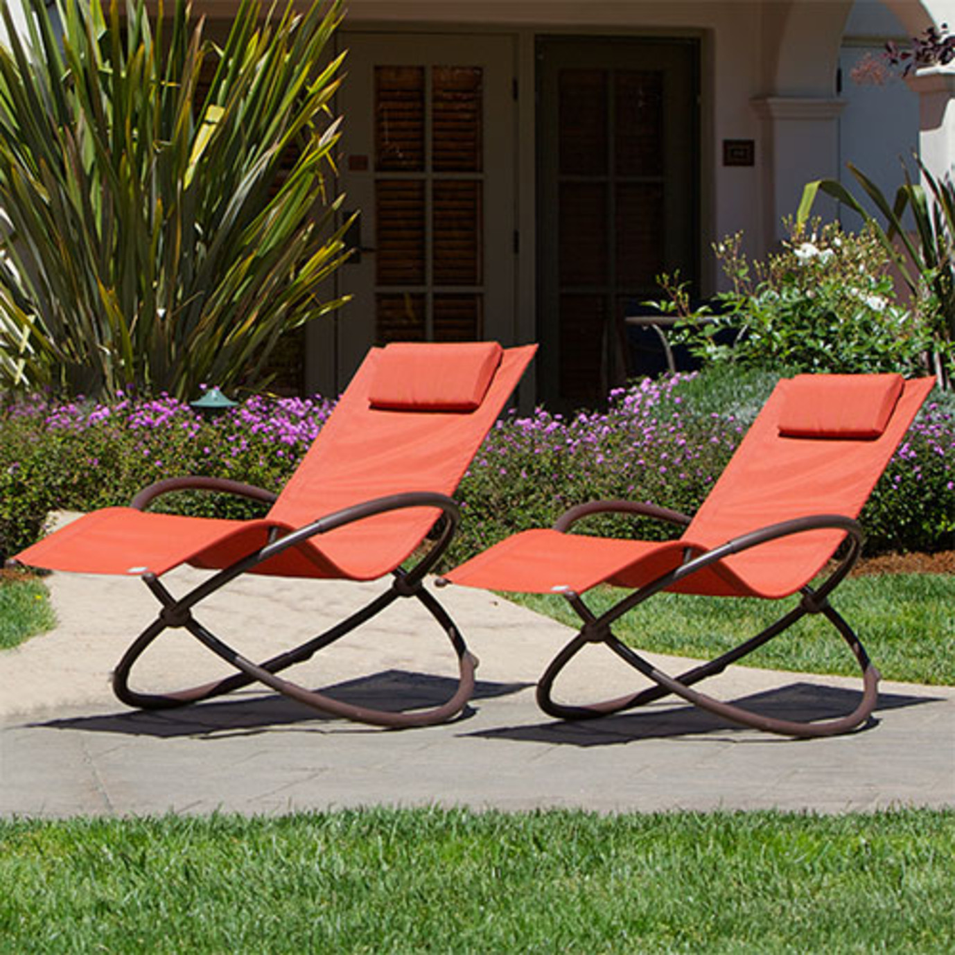 Original Orbital Outdoor Loungers 2pk - Poppy Orange