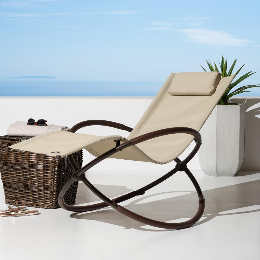 Original Orbital Lounger - Beige - Outdoor Furniture by RST Brands