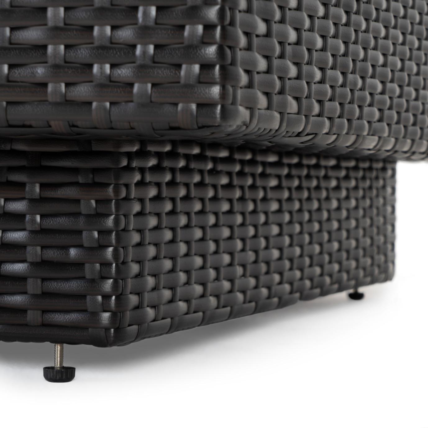 Portofino® Comfort Single Armless Chair - Taupe Mist