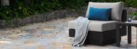 Portofino® Repose Single Armless Chair - Dove Gray