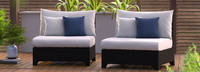Deco™ Armless Chairs - Bliss Blue