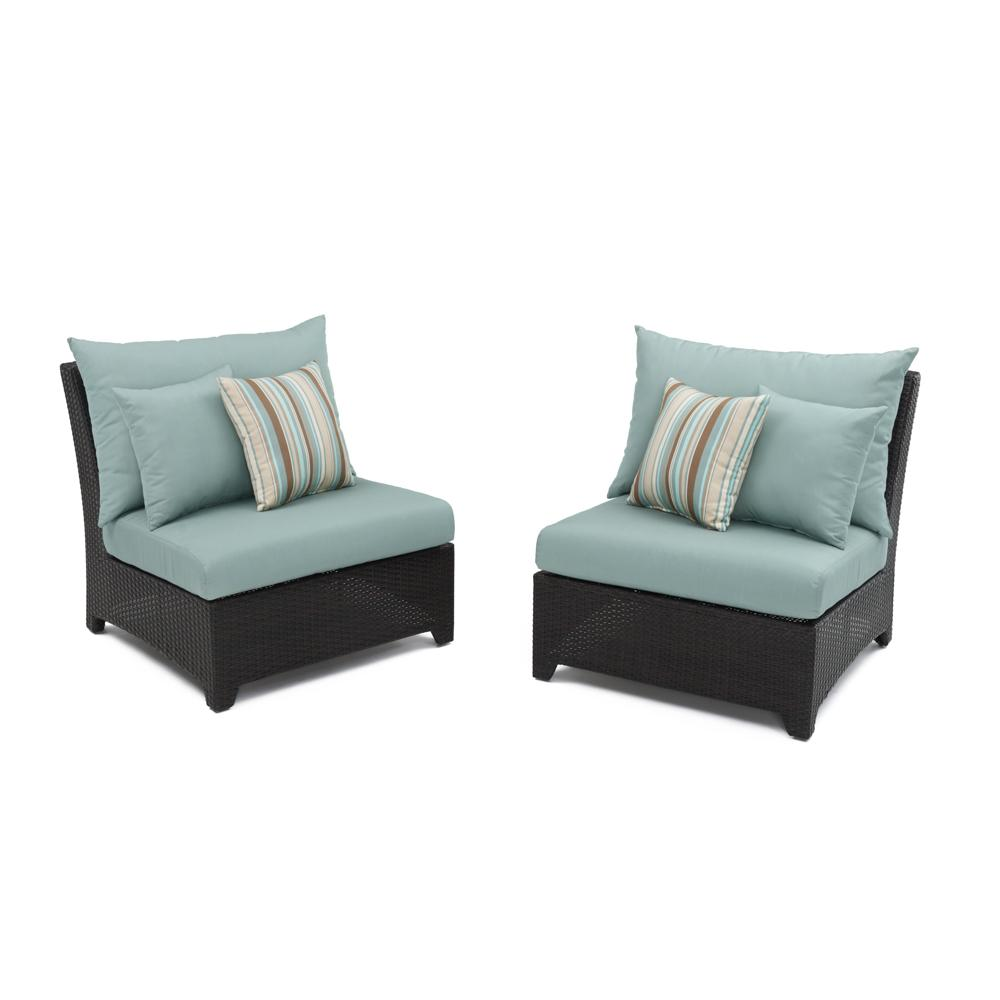 ... Deco™ Armless Chairs   Bliss Blue ...
