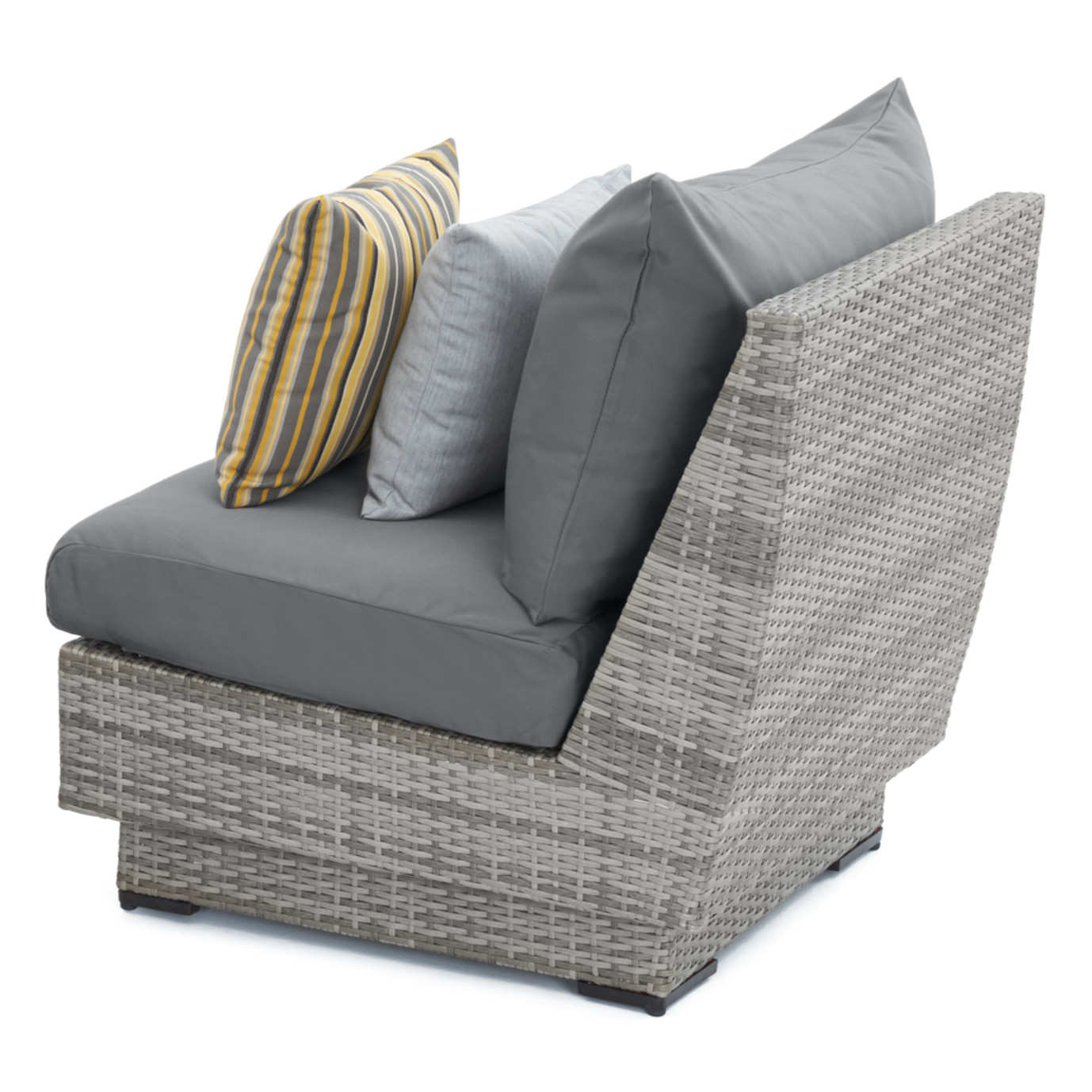 Cannes™ Armless Chairs - Charcoal Gray