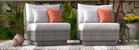 Cannes™ Armless Chairs - Cast Coral