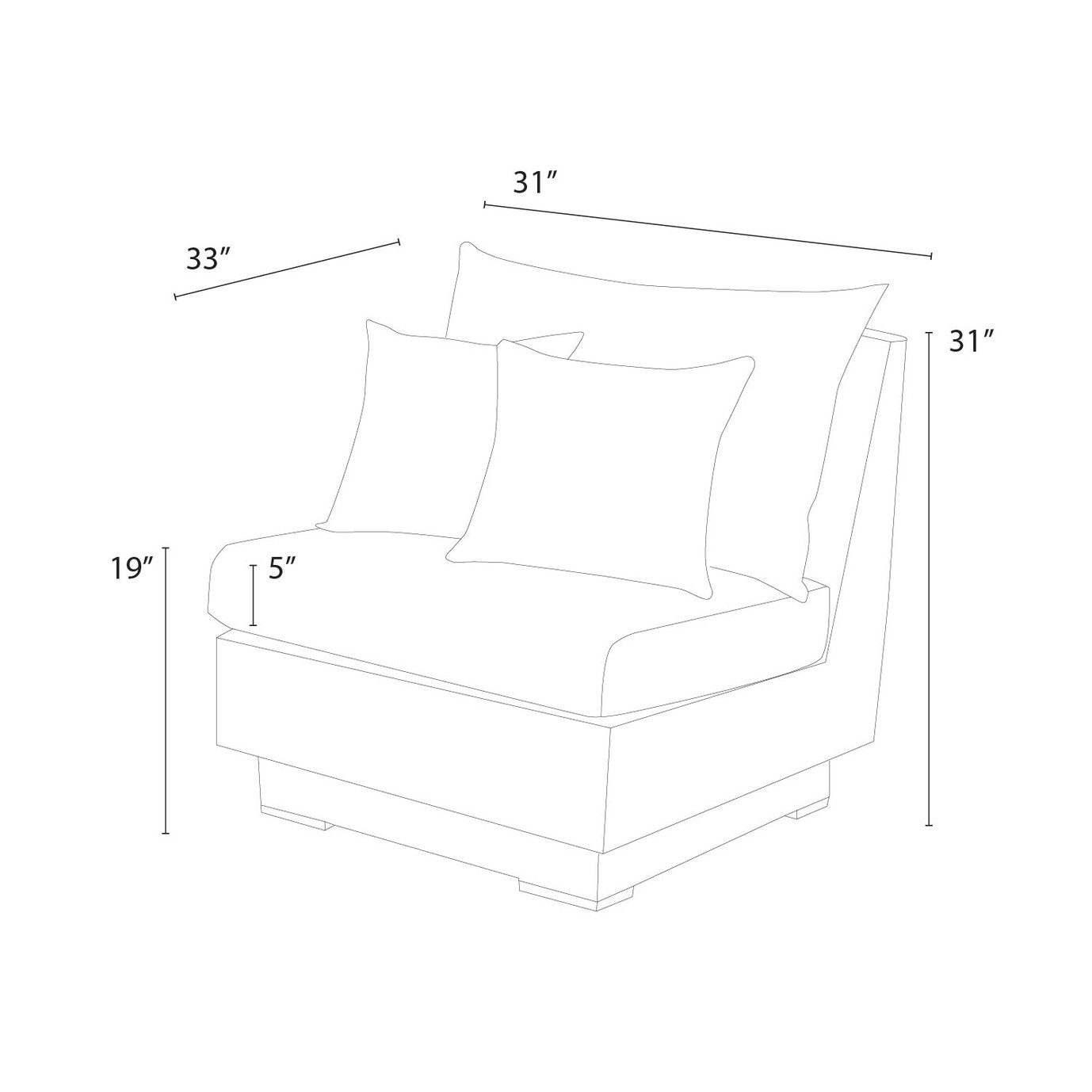 Cannes™ Armless Chairs - Moroccan Cream