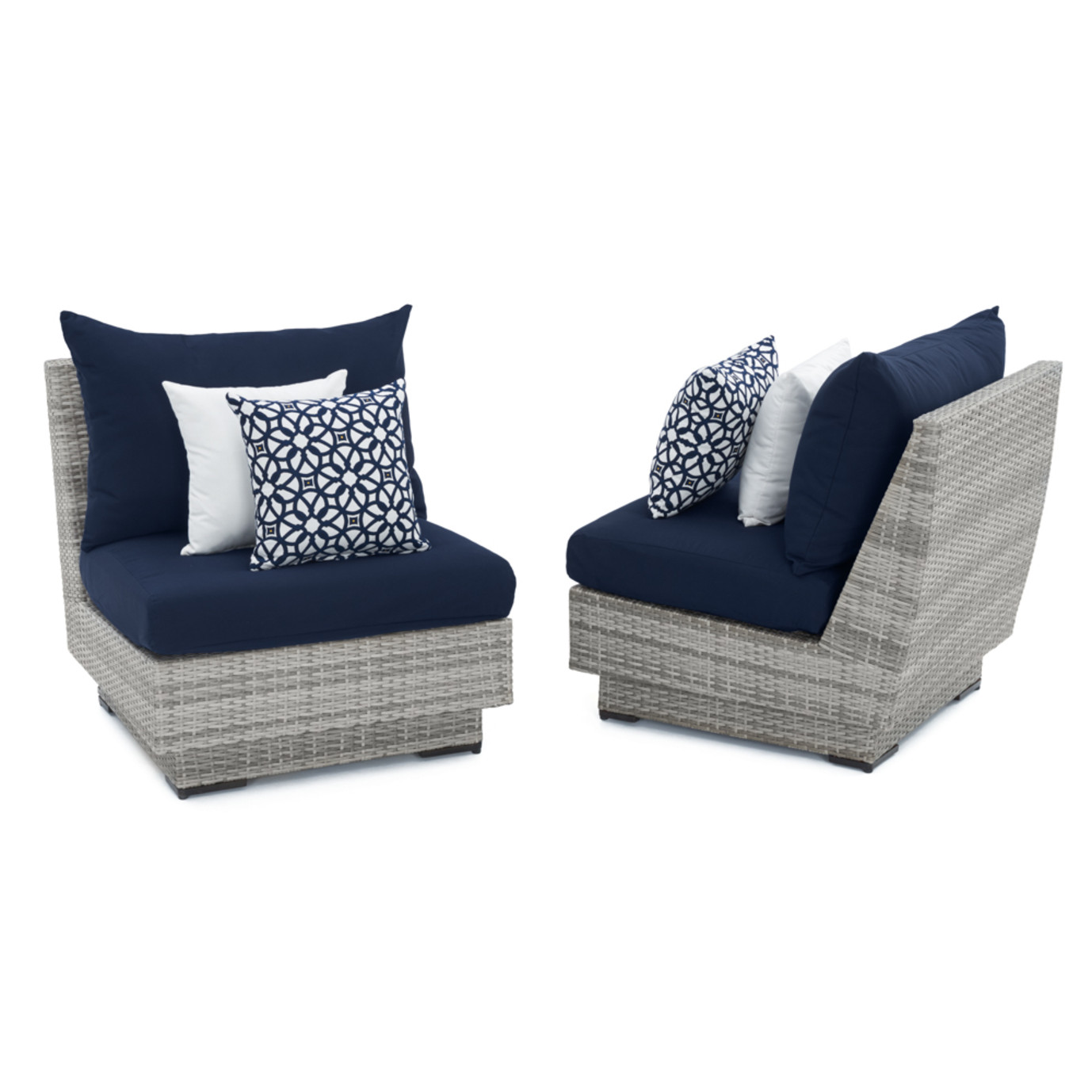 Cannes™ Armless Chairs - Navy Blue