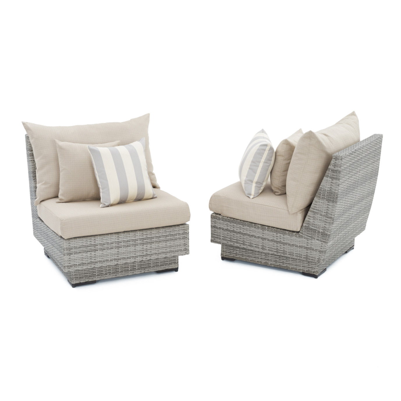 Cannes™ Armless Chairs - Slate Grey