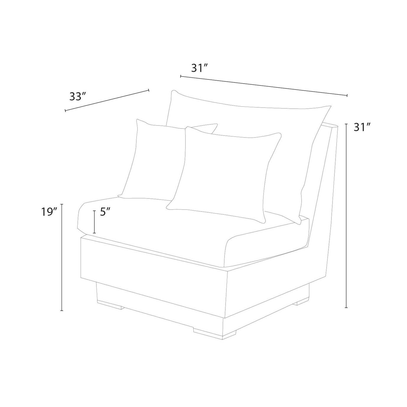 Cannes™ Armless Chairs - Slate Grey