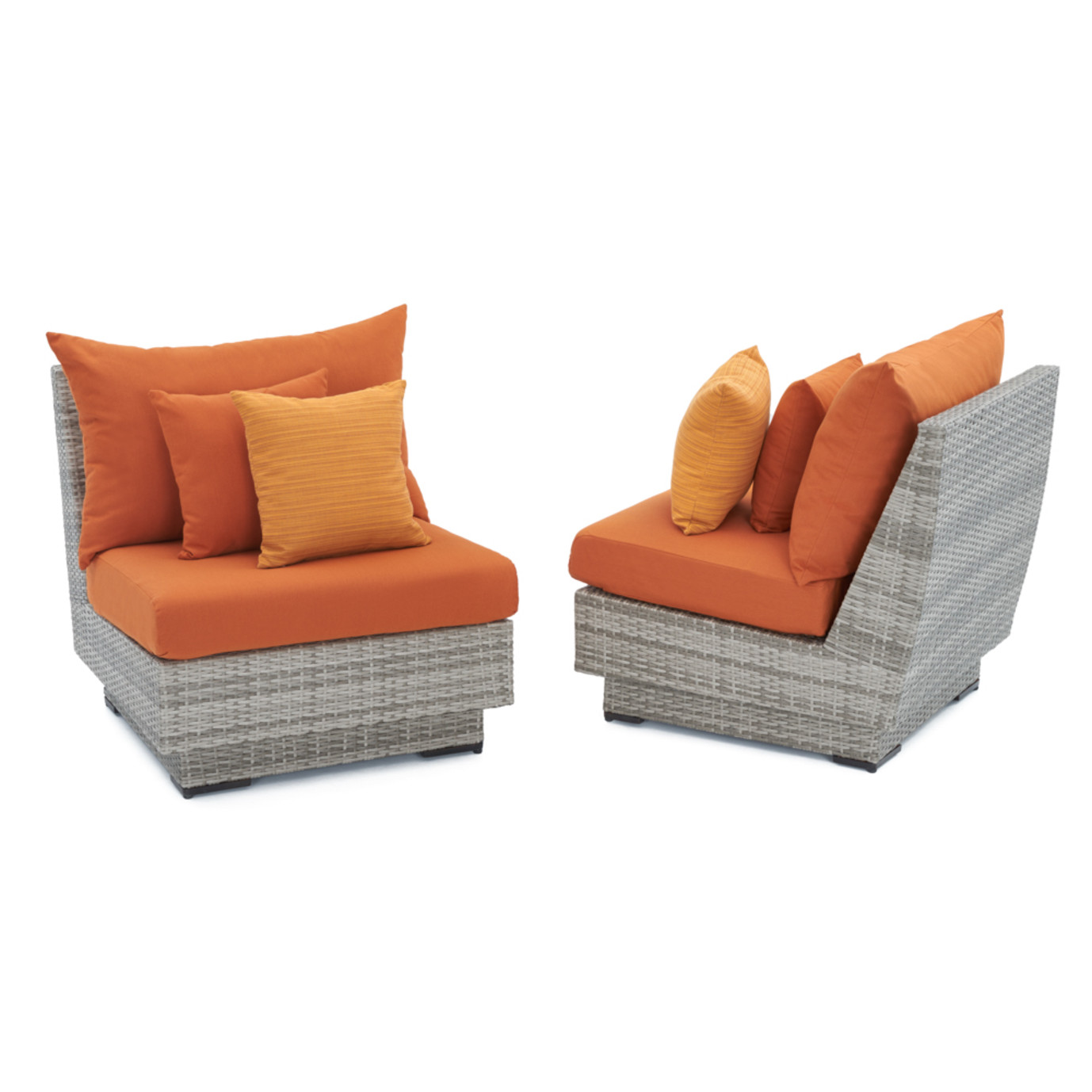 Cannes™ Armless Chairs - Tikka Orange
