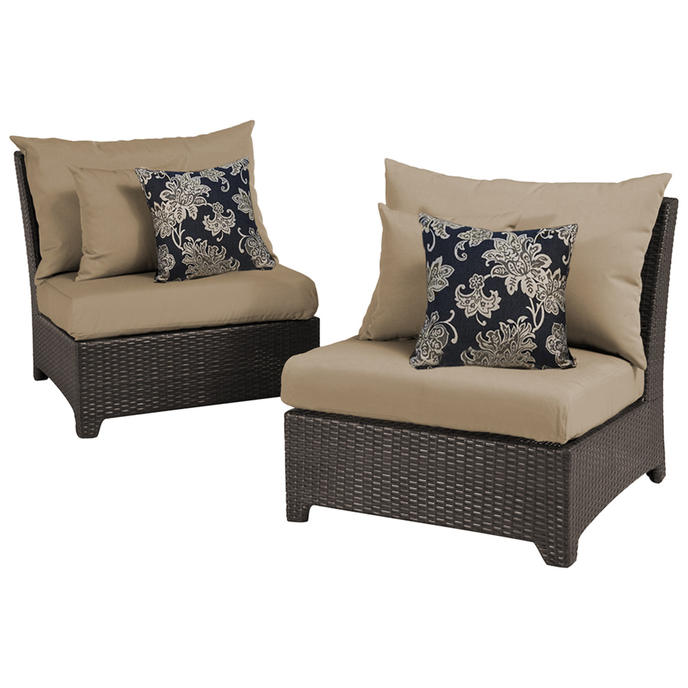 Deco Armless Chairs - Delano Beige
