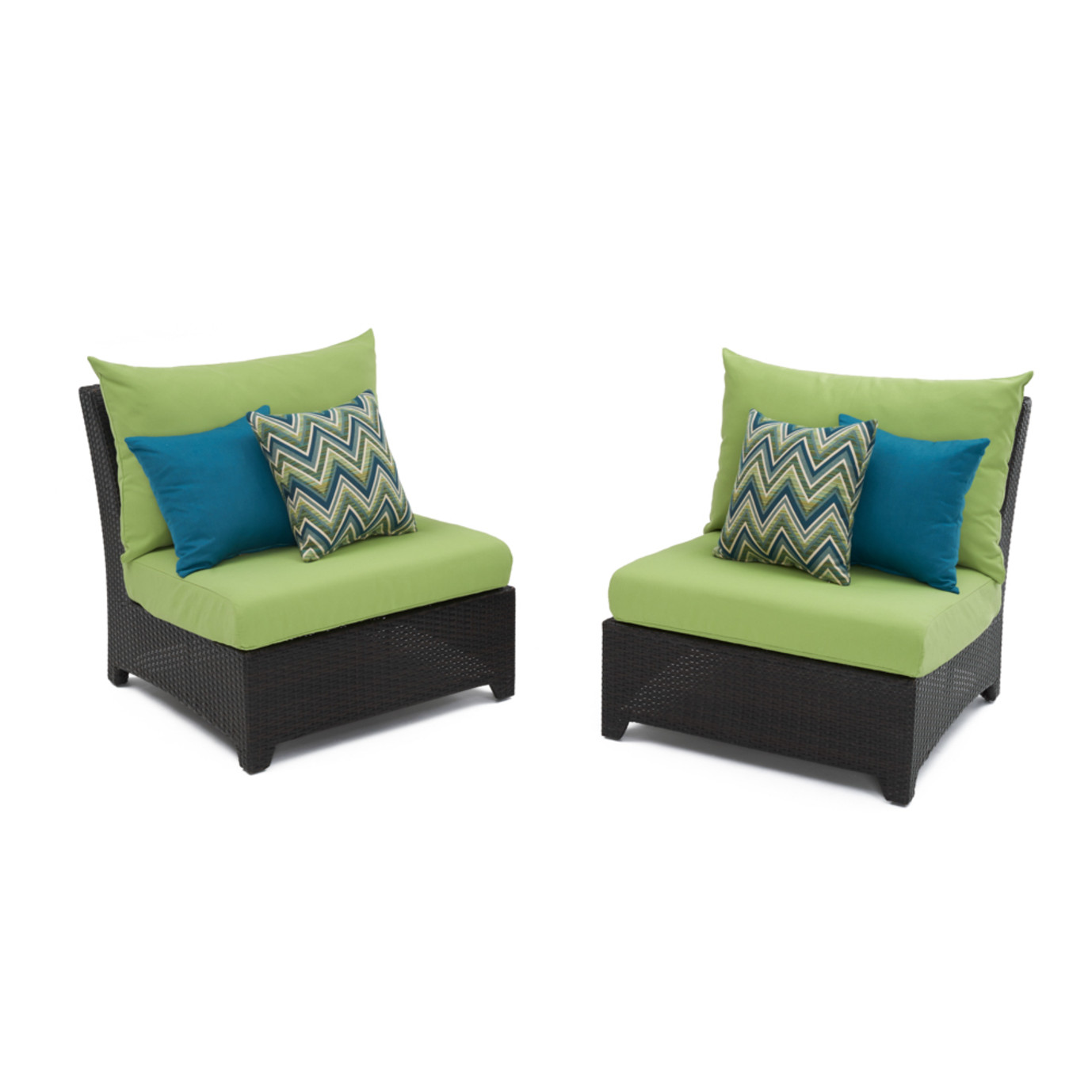 Deco™ Armless Chairs - Ginkgo Green