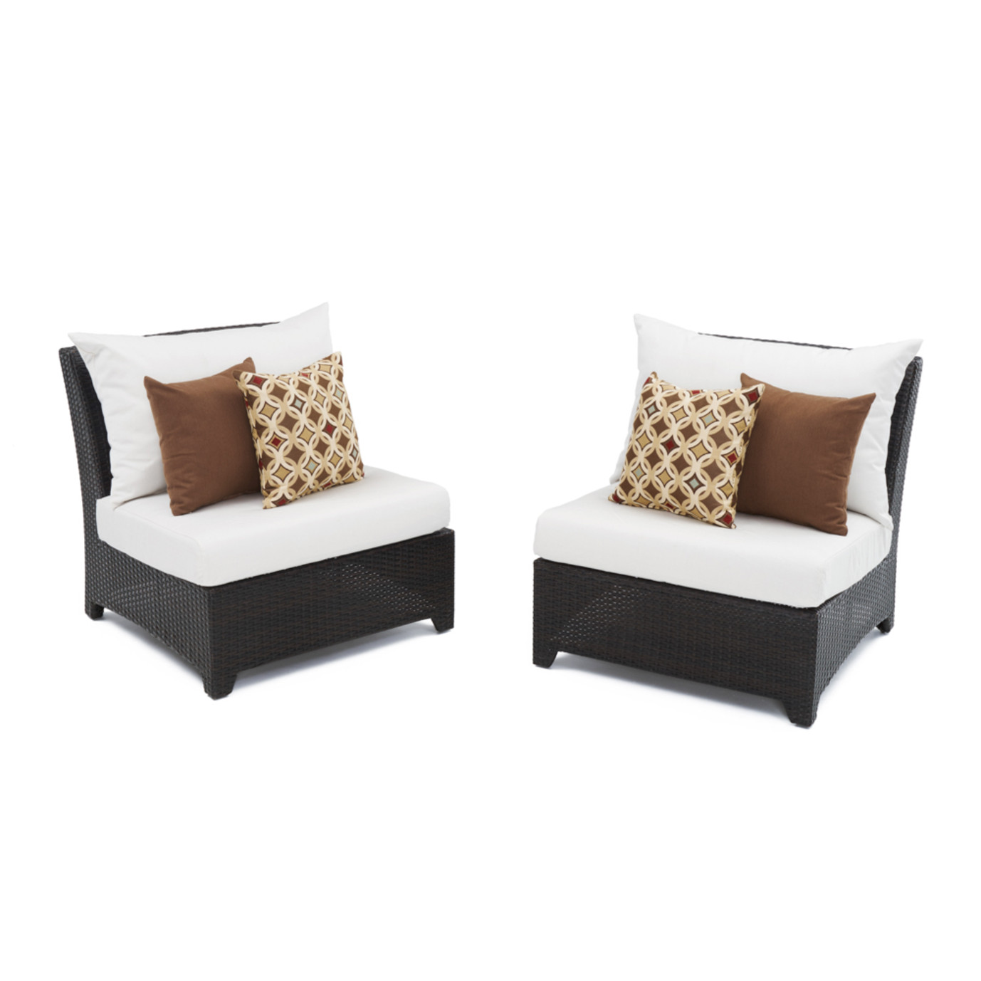 Deco™ Armless Chairs - Moroccan Cream