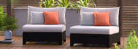 Deco™ Armless Chairs - Navy Blue