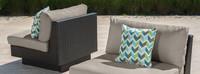 Portofino® Comfort Armless Chairs - Taupe Mist