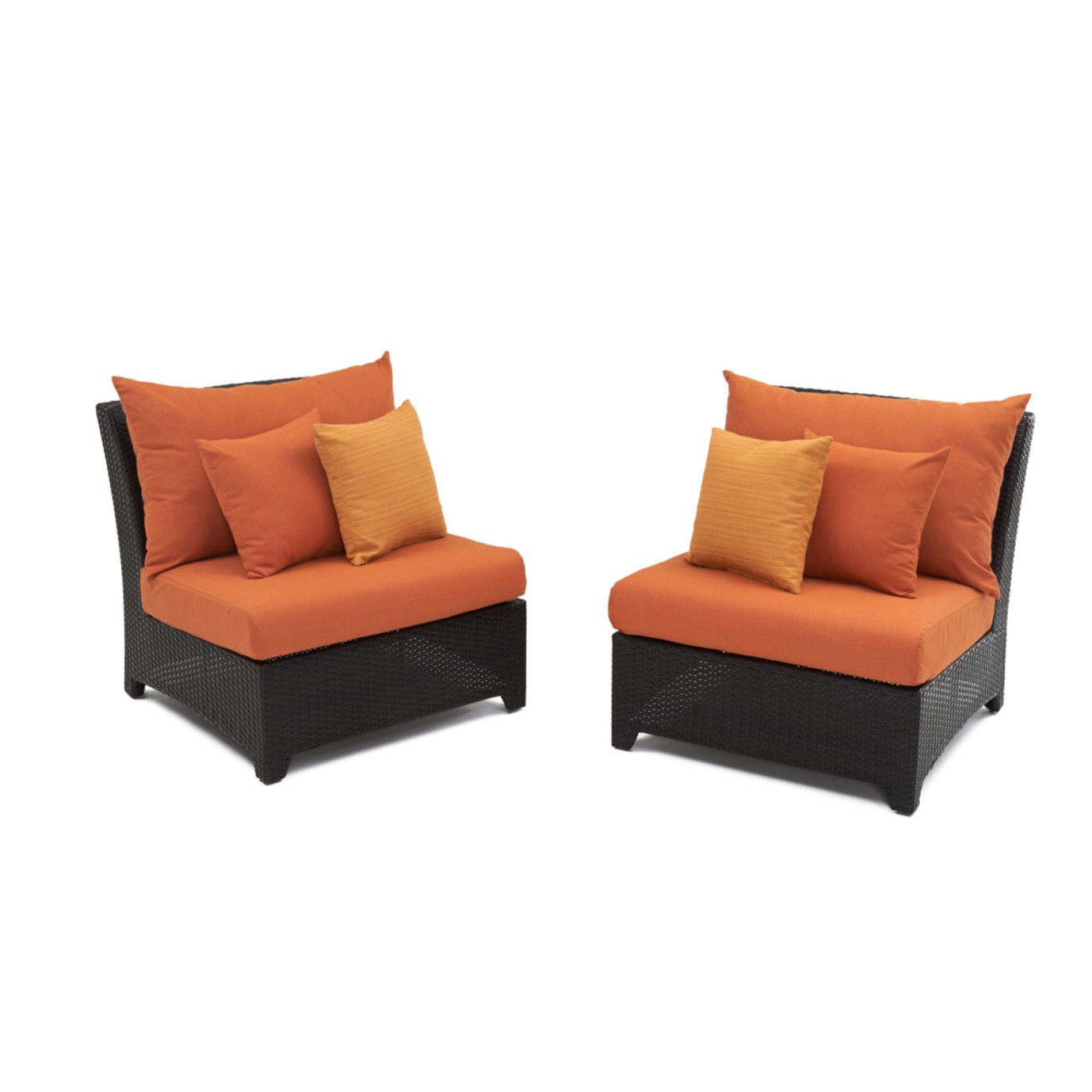 Deco™ Armless Chairs - Tikka Orange
