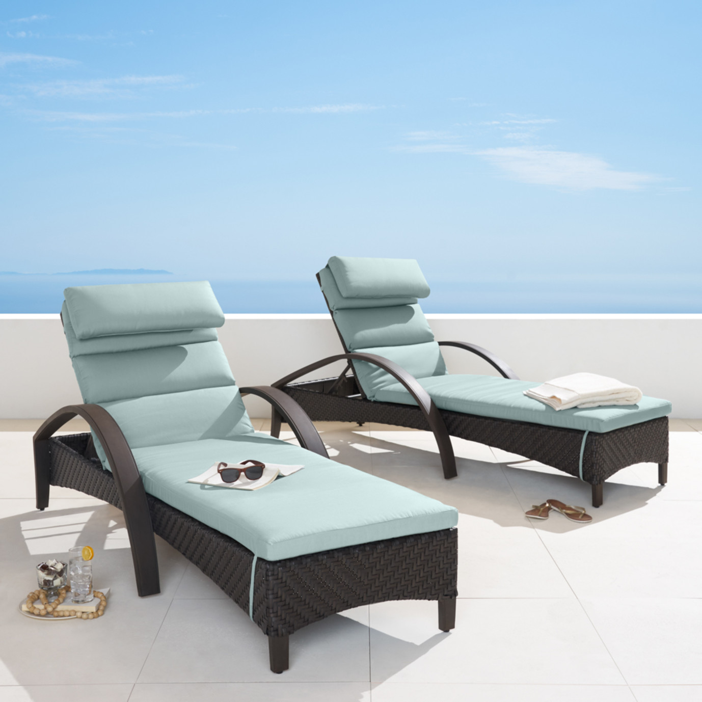 Barcelo™ Chaise Lounge 2pk - Bliss Blue