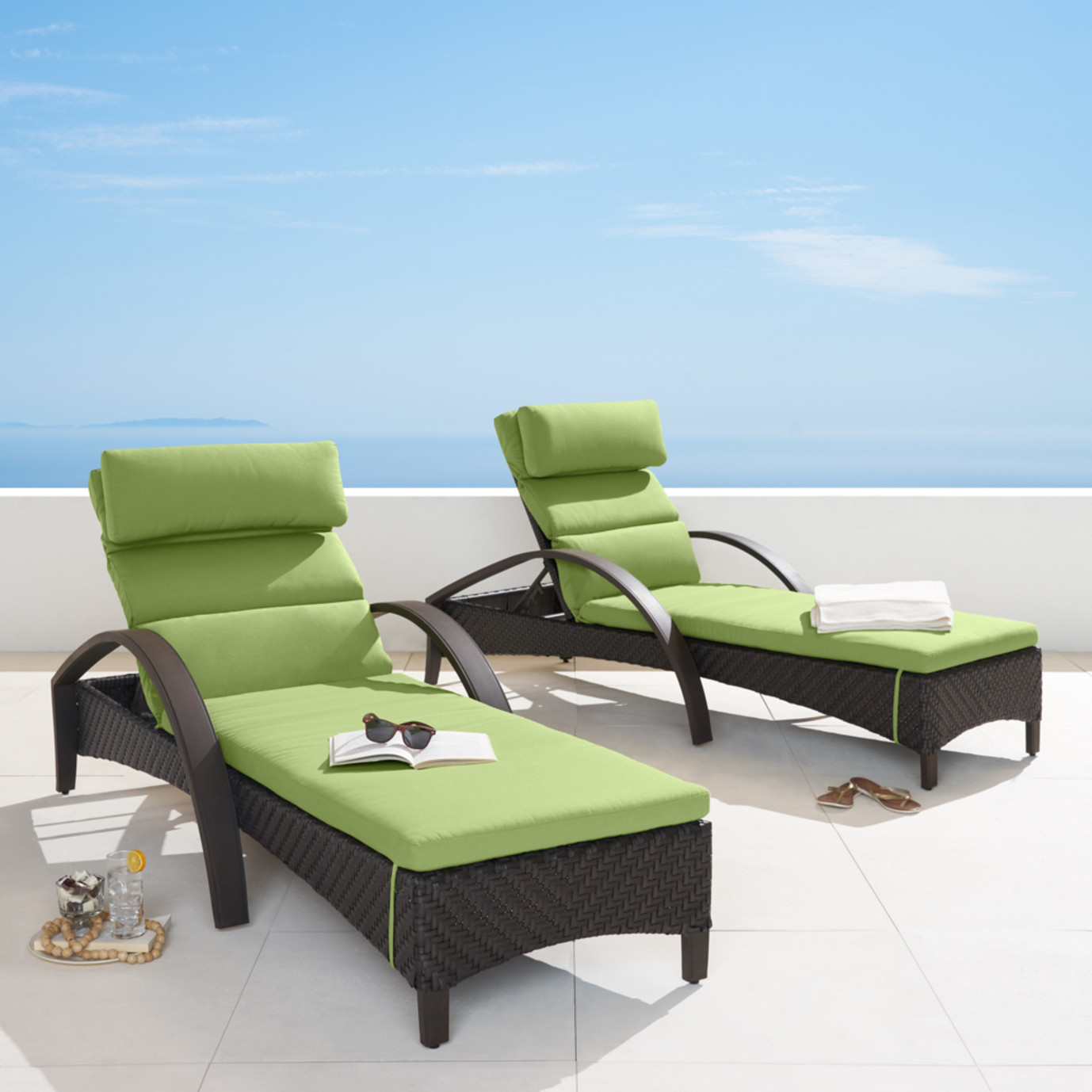 Barcelo™ Chaise Lounge 2pk - Ginkgo Green